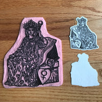 Transparent Vinyl Sticker of The Empress - White lines