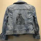 Jean Jacket printed with The Empress