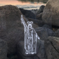 Transparent Vinyl Sticker of The Magician - White lines