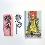 Queen of Wands' Sunflower hand carved stamp
