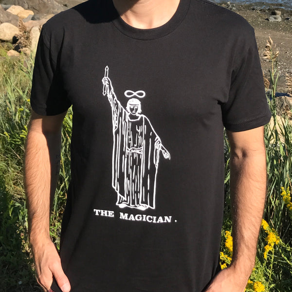 The Magician T-shirt — print from hand carved stamp