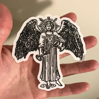 Transparent Vinyl Sticker of Temperance - Black lines