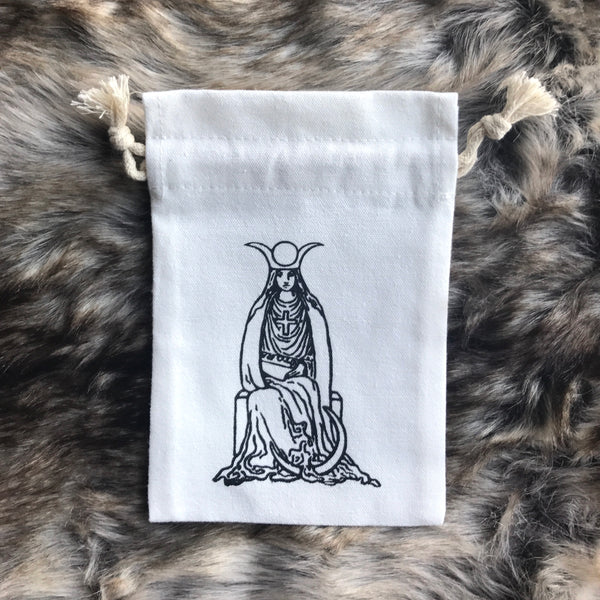 Tarot Bag for crystal/small decks - The High Priestess