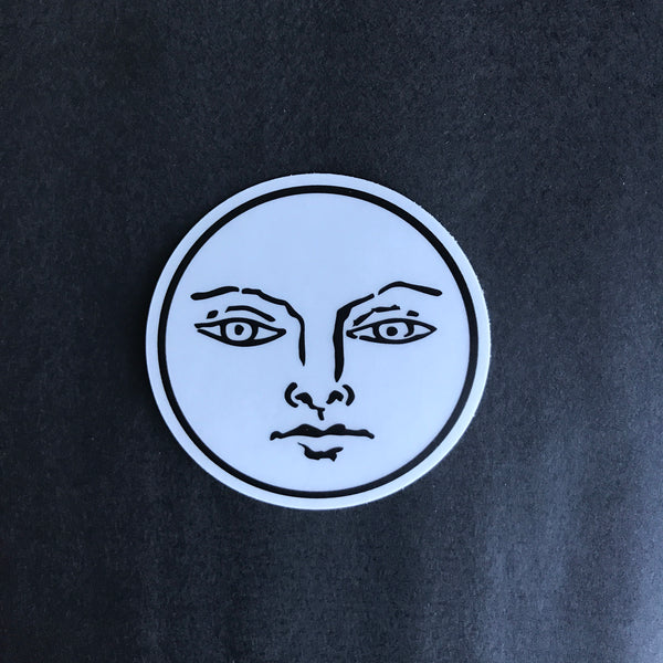 Transparent Vinyl Sticker of The Sun - Black lines