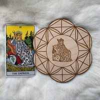 Wooden Crystal Grid - The Empress