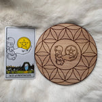 Wooden Crystal Grid - Ace of Pentacles