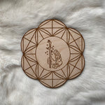 Wooden Crystal Grid - Ace of Wands