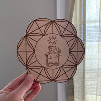Wooden Crystal Grid - The Star