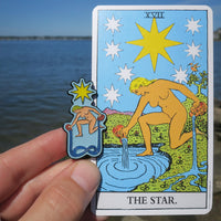 The Star Enamel Tarot Pin