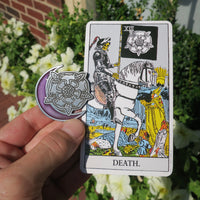 Death Flower Moon Enamel Pin - Purple Moon