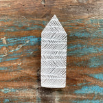 Engraved Selenite Wand - Feather Design