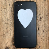 Transparent Vinyl Sticker of the Small Venus Heart (for phone) - White lines