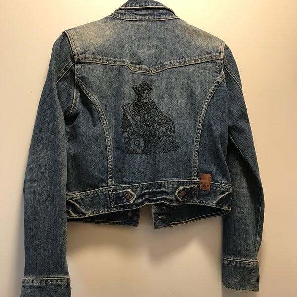 Jean Jacket (A&F brand) printed with The Empress