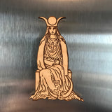 Wooden Tarot Magnet - The High Priestess