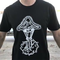 Seven of Cups Tarot T-shirt — print from hand carved stamp
