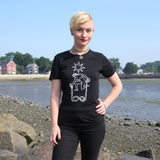 The Star Tarot T-shirt — print from hand carved stamp