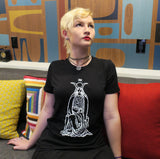 The High Priestess T-shirt — print from hand carved stamp