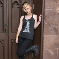 The High Priestess Ladies' Tank Top Dark Gray/Vintage Black Next Level Brand Triblend Racerback