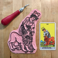 Strength Enamel Tarot Pin