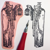 The Hermit Enamel Tarot Pin