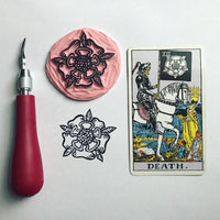 The Death Flag Enamel Tarot Pin
