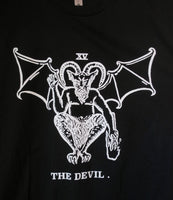 The Devil Tarot T-shirt — print from hand carved stamp