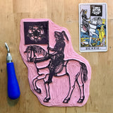 Death on Horsey Enamel Tarot Pin