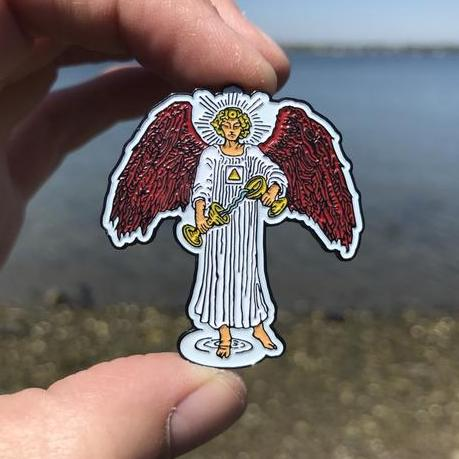 Temperance Angel Enamel Tarot Pin