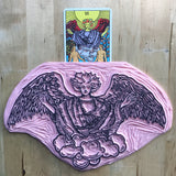 Archangel Raphael from The Lovers card Enamel Tarot Pin