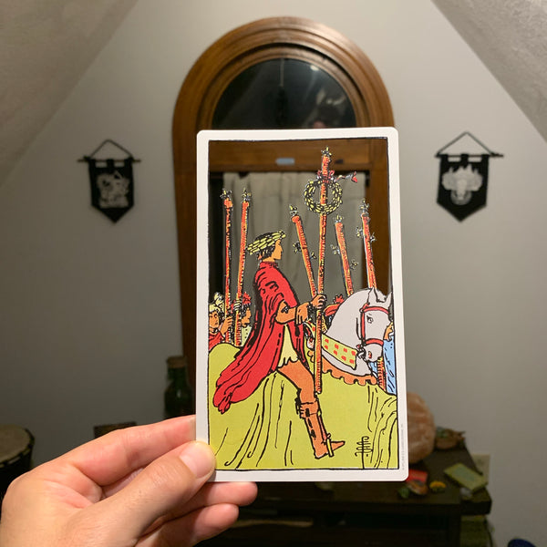Tarot Card Cut Out - Six of Wands
