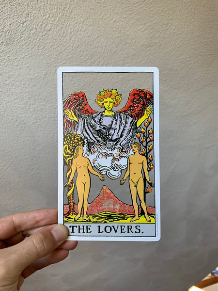 Tarot Card Cut Out - The Lovers
