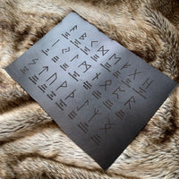 Leather Casting Mat - Runes, names and meanings