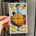 Tarot Card Cut Out - Wheel of Fortune