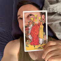 Tarot Card Cut Out - Three of Cups