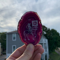 Purple Agate slice - Death on Horsey