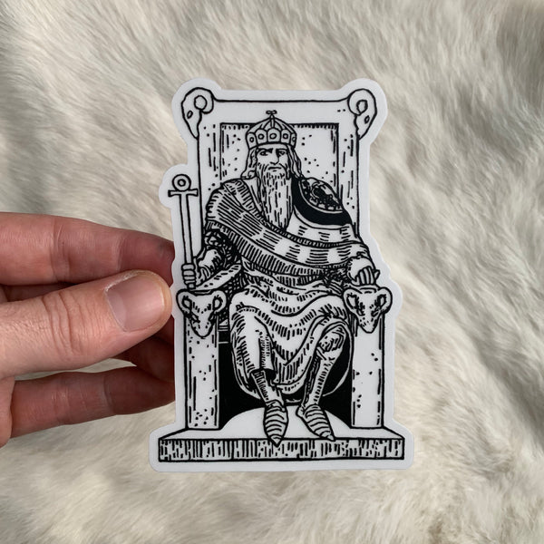 Transparent Vinyl Sticker of The Emperor - Black lines