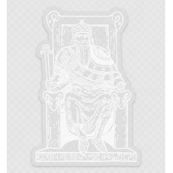 Transparent Vinyl Sticker of The Emperor - White lines