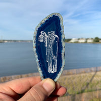 Blue Agate slice - The Hermit