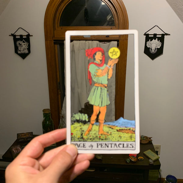 Tarot Card Cut Out - Page of Pentacles