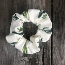 White or PInk Cactus Scrunchie