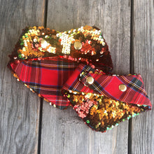 Holiday Iridescent Red and Green Flip Sequin Pet Bandana