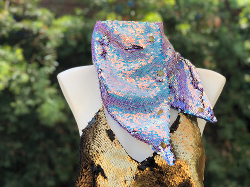 Iridescent Unicorn Flip Sequin Scarf