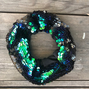 Peacock Flip Sequin Face Mask