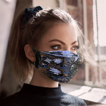 Black and White Flip Sequin Face Mask