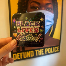 Black Lives Matter Glitter Sticker