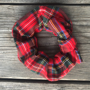 Holiday Red Plaid Scrunchie