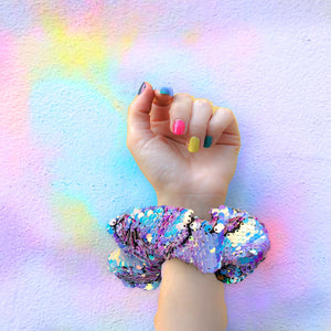 Scrunchie- Iridescent Sequin's