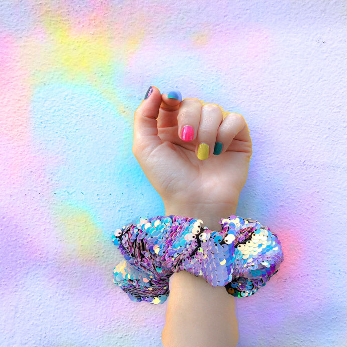 Scrunchie- Iridescent Unicorn Sequin