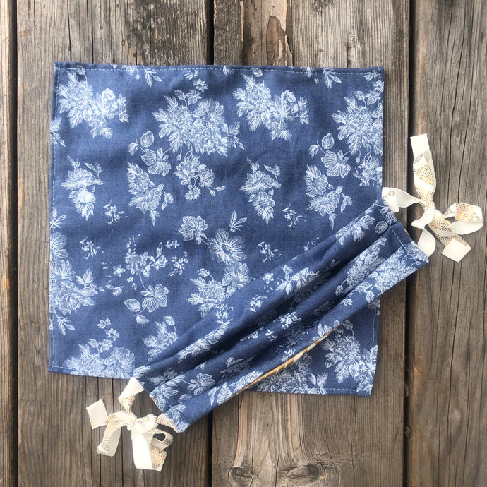 Jean Flowers Print Pocket Square