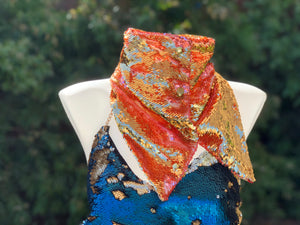 Pink and Gold Flip Sequin Scarf